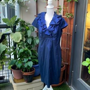 Adrianna Papell Blue Mother of the Bride Dress